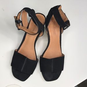 Beautiful Madewell Black Sandals size 7